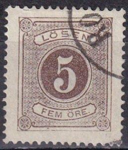 Sweden #J3 F-VF  Used  CV $35.00  (Z6328)