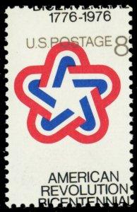 1432, Mint NH Color Shift Error 8¢ Bicentennial Stamp - Stuart Katz