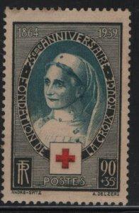 FRANCE, B81, HINGED, 1939, Red cross nurse