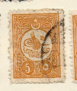 Turkey 1911 Early Issue Fine Used 5p. 087289
