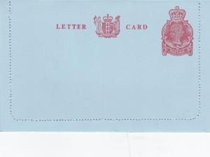 New Zealand Lettercard 3c Queen Elizabeth Excellent Mint condition