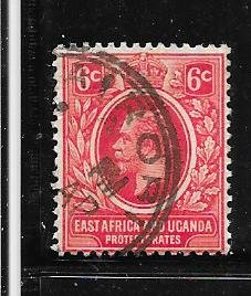 Kenya,Uganda,Tanganyika #3  6c rose red King George V (U)  CV $22.50