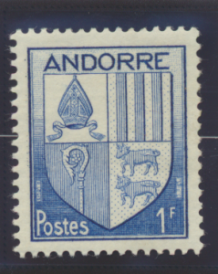 Andorra (French Administration) Stamp Scott #114, Mint Hinged - Free U.S. Shi...