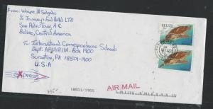 BELIZE  (P2706B) 2001 25C TURTLE PR SAN PEDRO TO USA