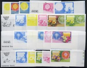 Nauru 1979 Christmas set of 4 in unmounted mint IMPERF pr...