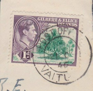 GILBERT & ELLICE IS GVI on 1946 piece POST OFFICE / VAITUPU cds.............N482