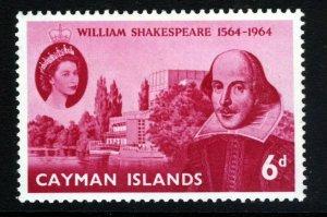 CAYMAN ISLANDS QE II 1964 Shakespeare 400th. Anniversary SG 183 MINT