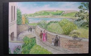 Alderney, Scott 162c, complete booklet
