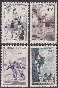 France Sc #801-804 Mint VLH; Mi #1100-03