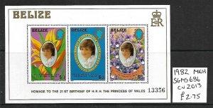 Belize MNH S/S 686 21st Birthday Princess Diana 1982