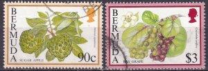 Bermuda #679, 682  F-VF  Used  CV $10.00 (Z3185)