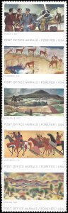 #5372-5376 (55c Forever) Post Office Murals Strip of 5 2019 Mint NH