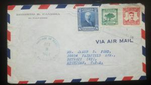 O) 1945 EL SALVADOR, GENERAL JUAN J. CALAS SCT A150 8c - CEIBA TREE SCT A152 2c