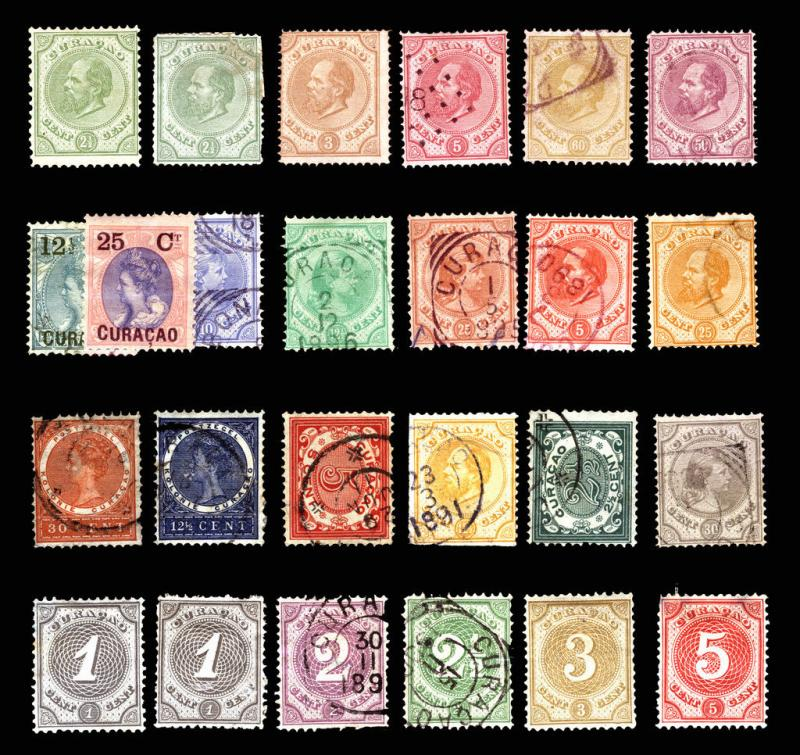 Netherlands Curacao #1-#41 1873-1908 Nice Mint & Used Lot 25 items