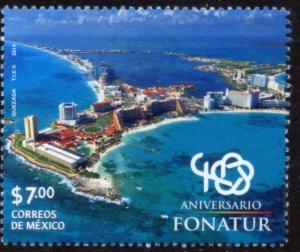 MEXICO 2863, FONATUR Tourism Org, 40th Anniv - Cancun. MNH. VF.