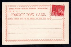 Trinidad 1879 UPU Postal Stationery with Bisect to Make Up Postal Rate WS20957