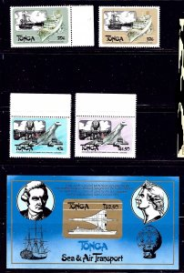 Tonga 532-36 MNH 1983 Sea and Ait Transport self-adhesives    (ap1148)