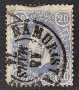 Belgium Scott 33  Fine used with a splendid SON cds.