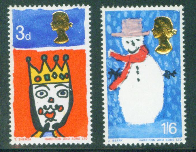 Great Britain Scott 478-479 Christmas 1966 stamp set MNH**