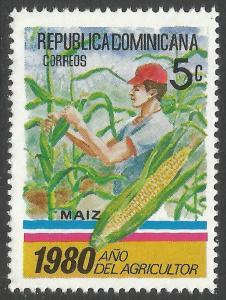 DOMINICAN REPUBLIC 829 MNH CORN I400-3