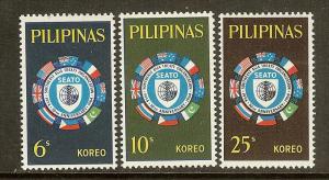 Philippines, Scott #909-911, SEATO Anniversary, MNH