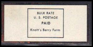 Permit Knott's Berry Farm, CA. E0044