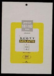 Scott Mounts Clear, 187/160mm,  (4 Pak) (01016C)