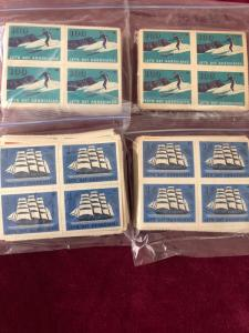 Lets Get Associated Cinderella Stamps Mint Blocks of Four #'s 1-100