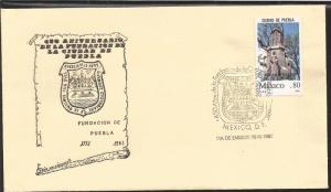L) 1981 MEXICO, CITY OF PUEBLA, 450th ANNIVERSARY OF YOUR FOUNDATION, CULTURE