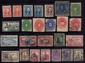 Old Mexico Classic Stamp Lot, Used/MH Lot of Twenty Five F-VF
