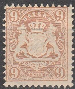 Bavaria #27  F-VF Unused CV $5.50  (A13058)