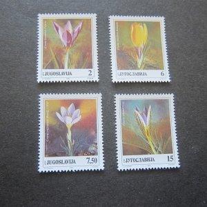 Yugoslavia 1991 Sc 2087-90 flower set MNH