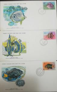 L) 1978 ST LUCIA, FISHES, NATURE, SEA, FULL COLORS, FAUNA, SPECIES, WORLD WILDLI