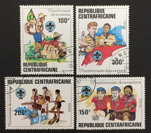 Central African Republic 1982 #497-500, Scouting Year, Used/cto.