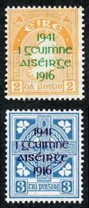 Ireland SG126/7 1941 EASTER RISING OVERPRINT Fresh M/Mint