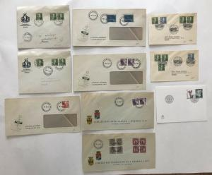 10 piece Sweden cover lot mostly 1947 [y3384]