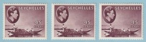 SEYCHELLES SG 143 143a & 143b  MINT HINGED OG * NO FAULTS EXTRA FINE ! - W199