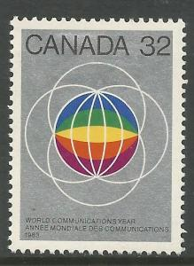 CANADA  976  MINT HINGED,  WORLD COMMUNICATIONS YEAR