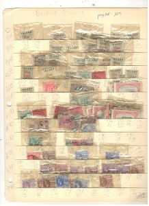 BRITISH GUIANA COLLECTION ON STOCK SHEET, MINT/USED