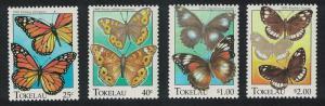Tokelau Butterflies 4v SG#230-233