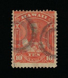 GENUINE HAWAII SCOTT #45 F-VF USED 1884 VERMILION KING DAVID KALAKAUA  #15828
