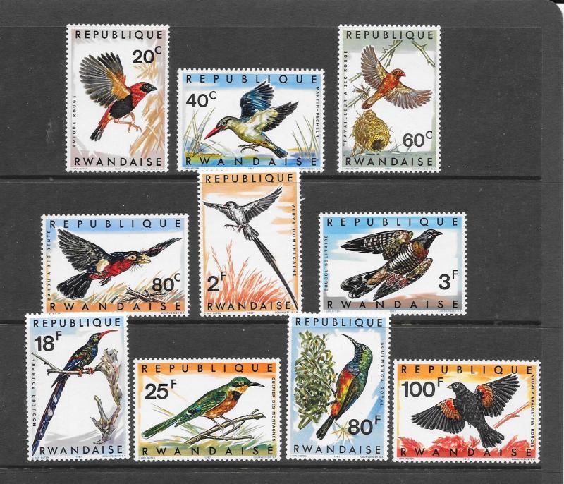 BIRDS - RWANDA #239-48  MNH