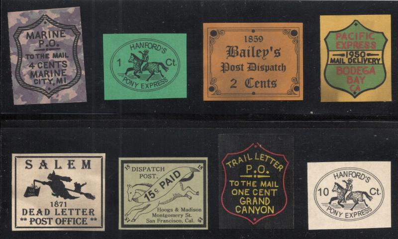 Small Collection of Fake Carrier & Locals - Group of 8 - Multicolored