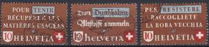 Switzerland 281-283 used (1942)