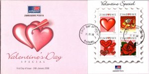 Zimbabwe, Worldwide First Day Cover, Flowers