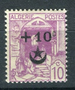 FRENCH; ALGERIA 1927 Wounded Soldiers issue fine Mint hinged 10c. value