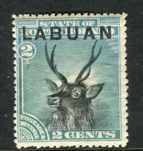 LABUAN; 1894 classic Pictorial issue fine unused 2c. value