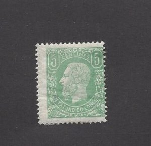 Belgium Congo, 1, King Leopold II Single, **Hinged** #2