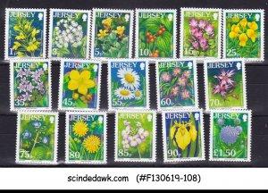 JERSEY - 2006-2007 WILD FLOWERS DEFINITIVES 16V MINT NH