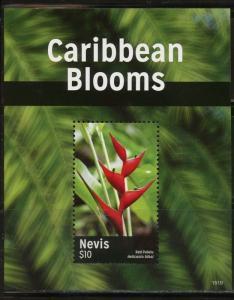 NEVIS  2015  CARIBBEAN  BLOOMS  SOUVENIR  SHEET MINT NH